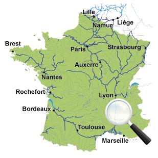 Carte Des Canaux Et Voies Navigables De France | My blog